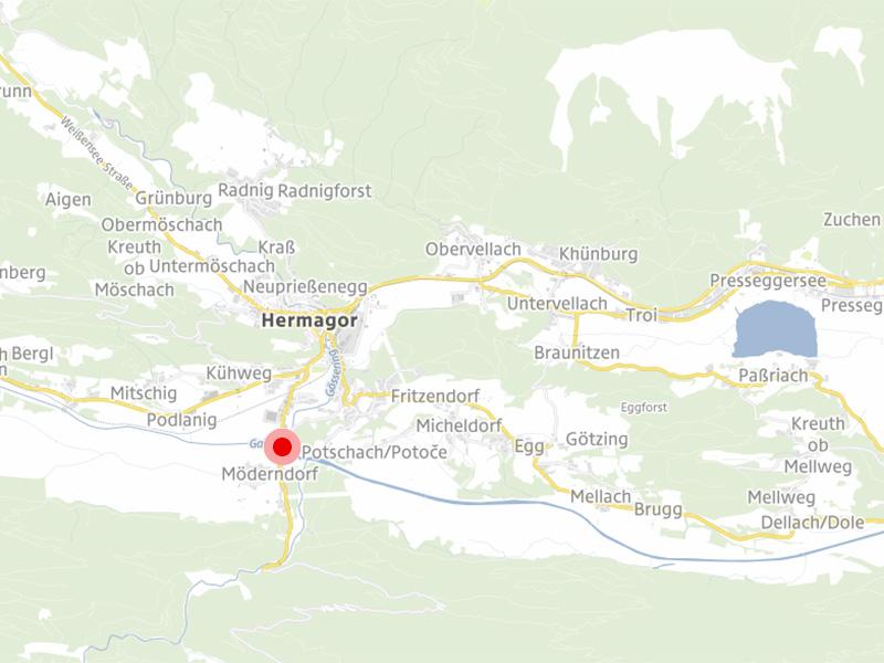 Möderndorf Karte Gailtal Hochwasser