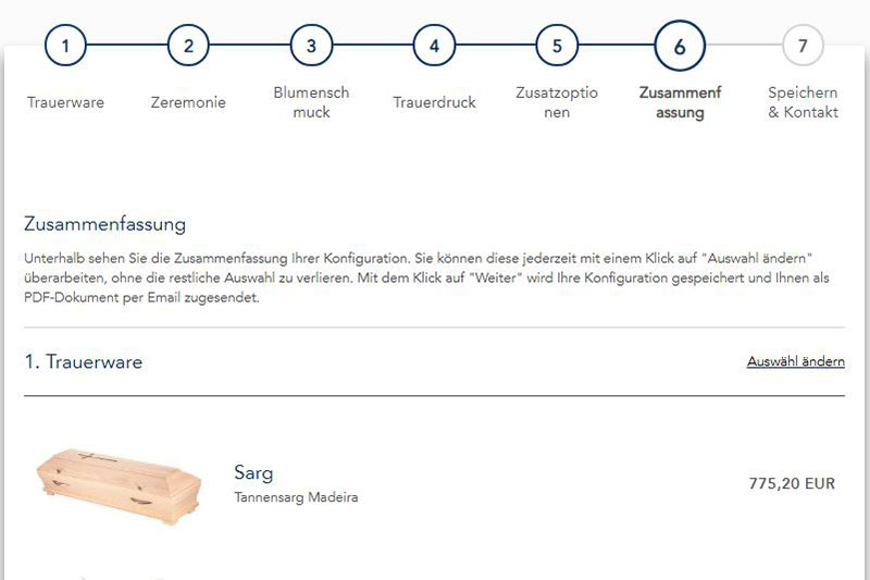 Begräbnis Mit Konfigurator Online Planen Wienorfat