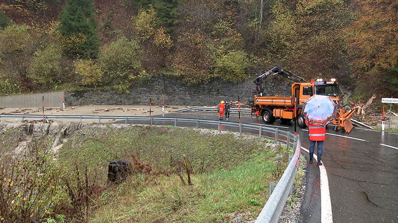 Hochwasser Unwetter Muren Lavamünd abgeschnitten