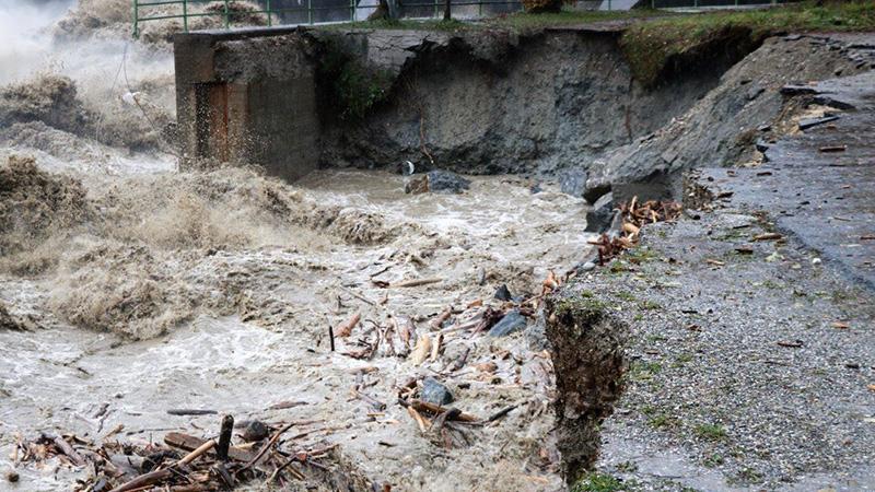 Mauer Rosegg Unwetter Hochwasser Kraftwerk