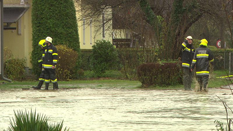 Kraftwerk Rosegg Hochwasser Mauer weggebrochen