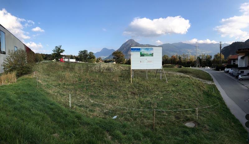 Kinder Reha Zentrum geplanter Bauplatz