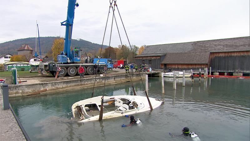 Boote Bergung Attersee Sturm