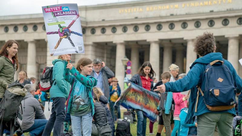 Integrationsklassen I-Klassen Demo Heldenplatz