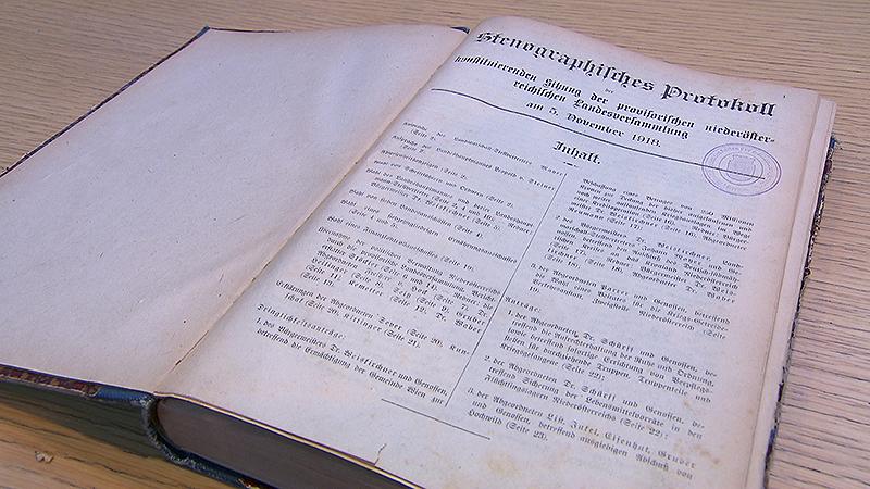 Protokoll der Konstituierenden Sitzung der Provisorischen Landesversammlung 5. November 1918