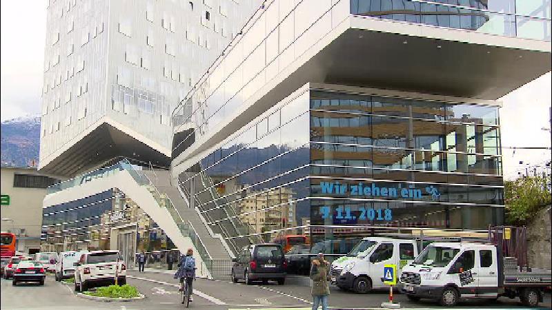 Die neue Stadtbibliothek in Innsbruck von aussen
