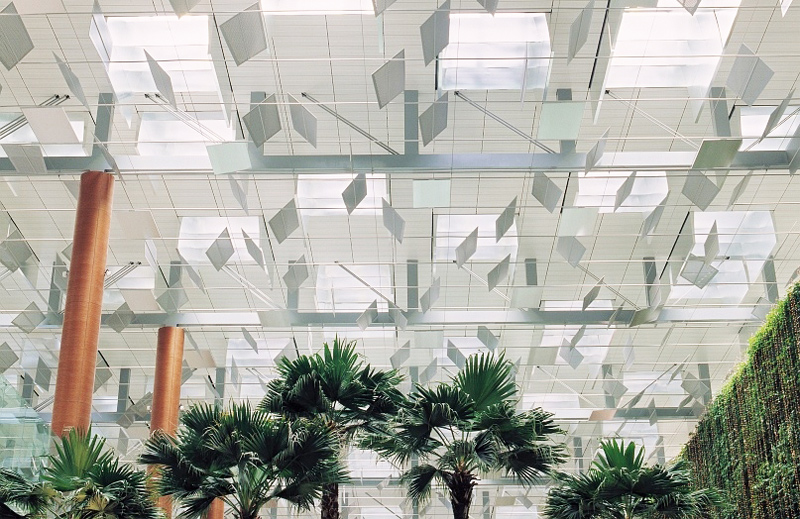 Beleuchtung am Changi Airport