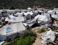 Flüchtlingscamp Moria aus der Insel Lesbos im März 2017
