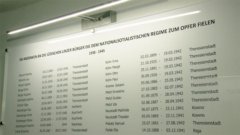 Gedenktafel Synagoge Linz