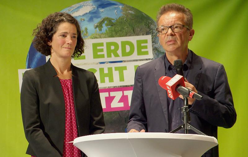 Landessprecherin Maria Buchmayr und Umweltlandesrat Rudi Anschober