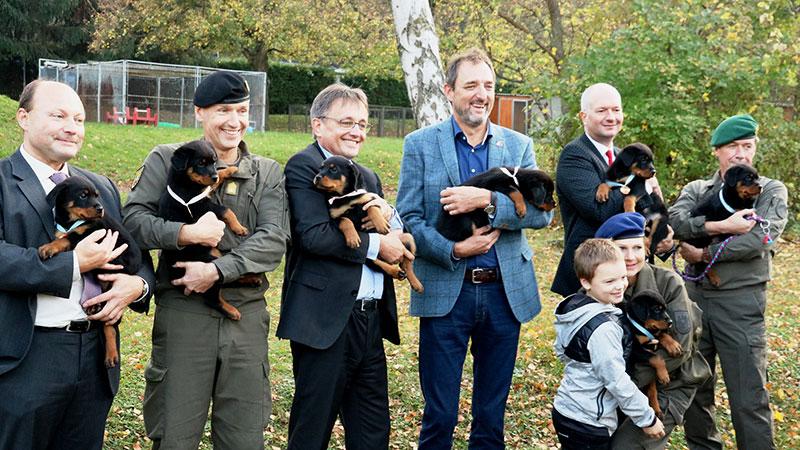 Bundesheer Hunde Rottweiler Taufe