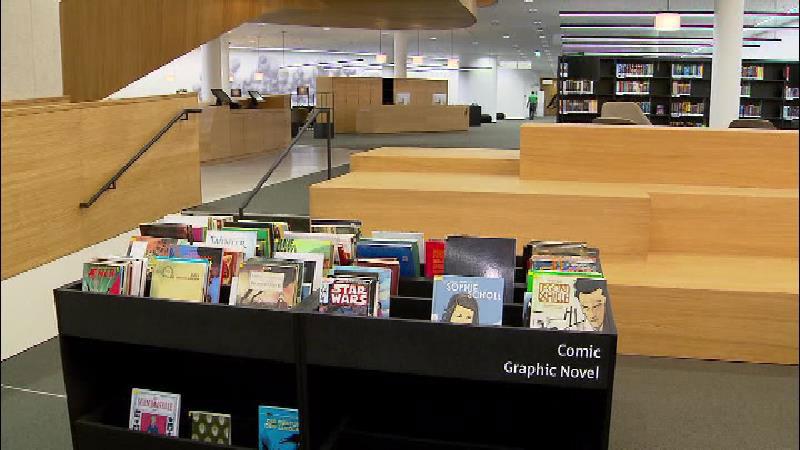 Die neue Innsbrucker Stadtbibliothek von innen