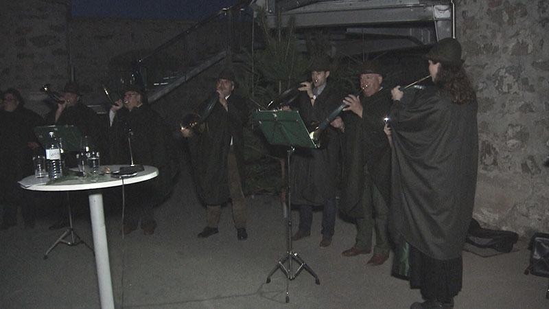 Hirsch, Jagdhorn, Jäger