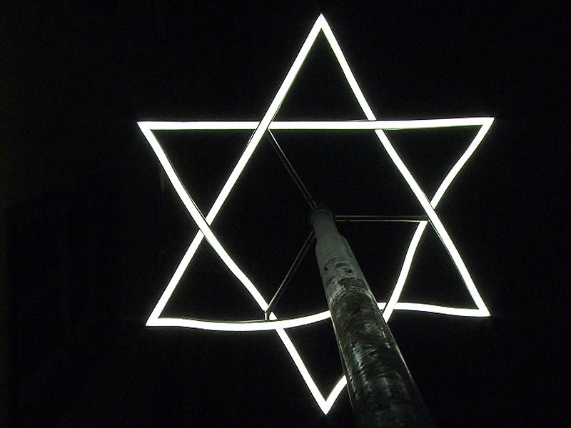 Lichtinstallation zum Gedenken an Novemberpogrom zeigt Davidstern