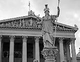 Wien Parlament schwarzweiß