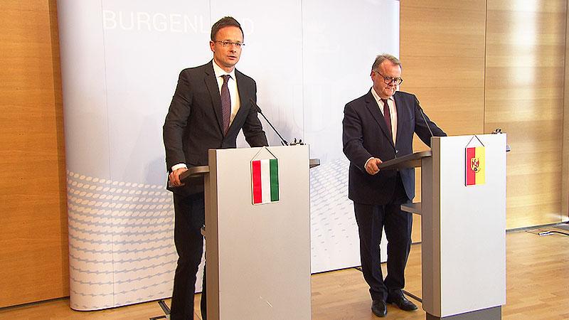 Ungarischer Außenminister zu Besuch Niessl