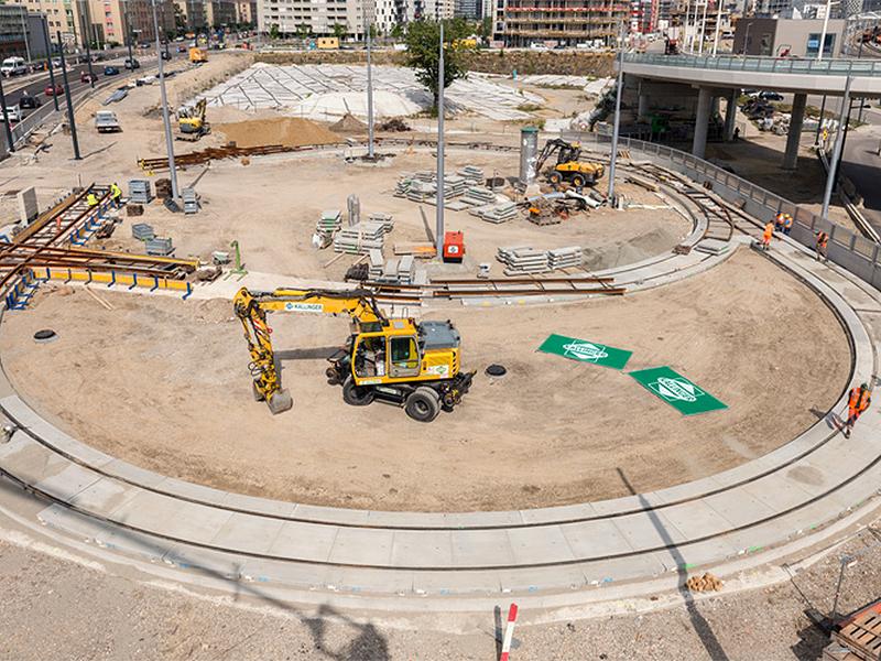 Bauarbeiten für Schleife der Linie 6 in Favoriten