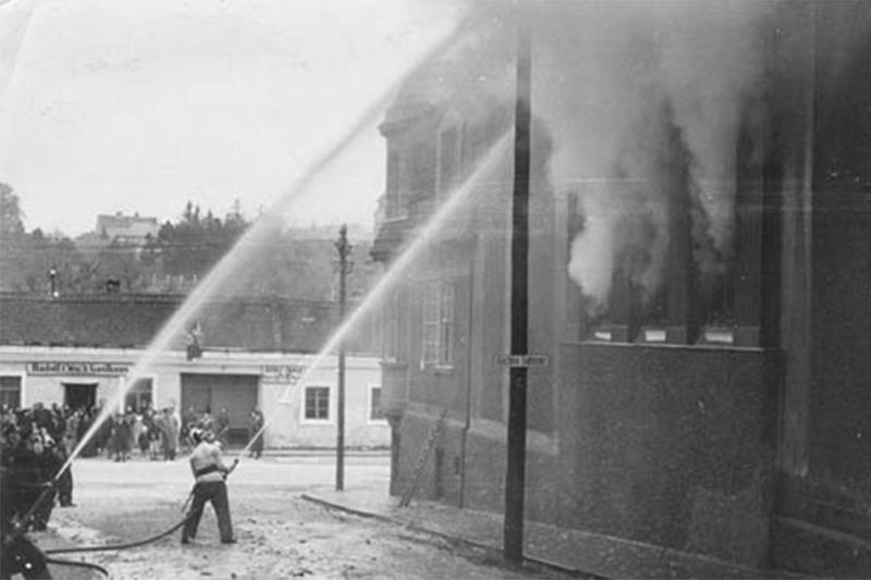 Synagoge Klosterneuburg November 1938