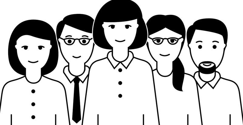 Icone für gemnischtes Team mit Frauen und Männern