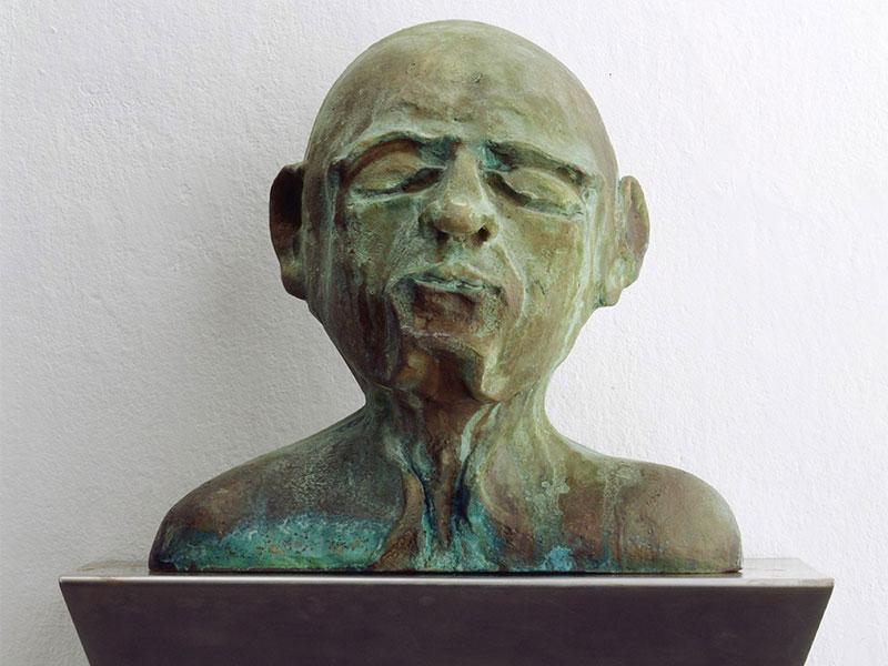 Wichte, 2006 Bronze, Stahl, 70 x 50 x 33 cm   Foto: Nic Tenwiggenhorn