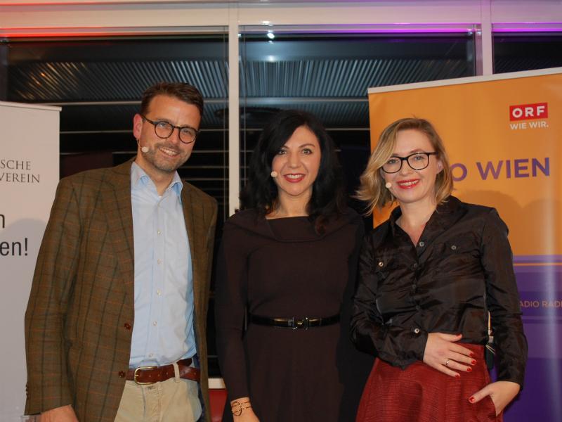 Dr. Raphael M. Bonelli, Neurowissenschaftler und Psychiater, Jasmin Dolati, Radio Wien Programmchefin, Barbara Haas, Chefredakteurin WIENERIN