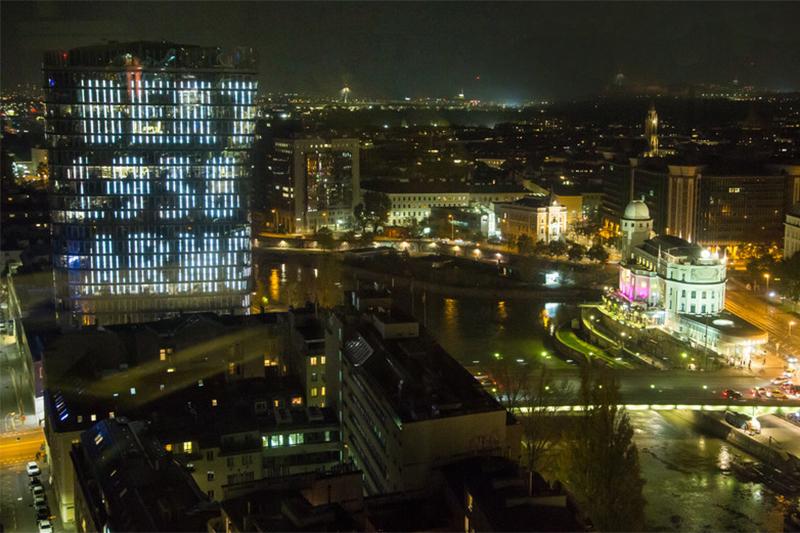 Namenstower Pogromnacht UNIQA Tower Wien