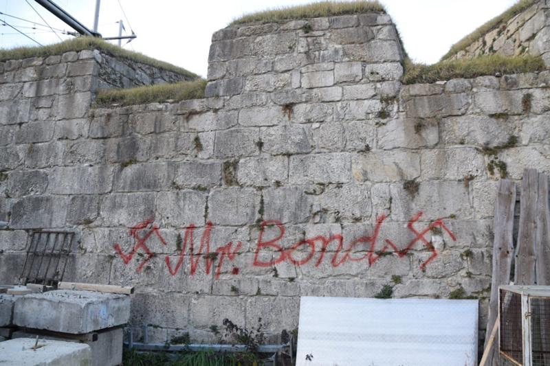 Hakenkreuz auf Festung Kufstein