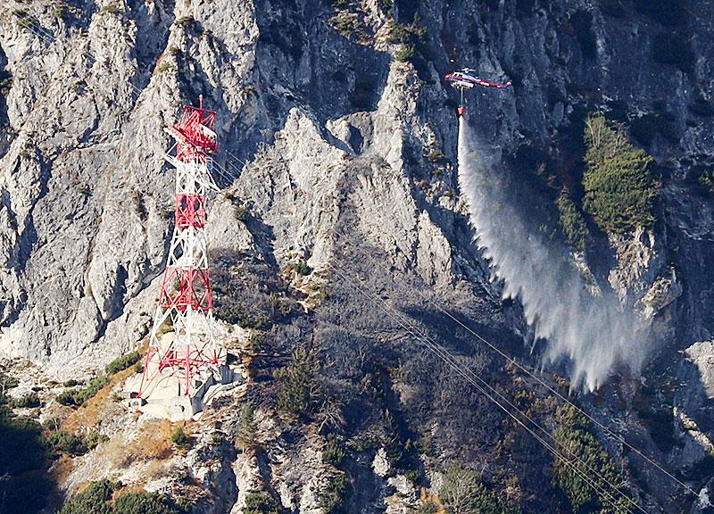 Waldbrand am Untersberg