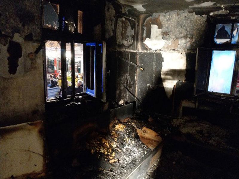 Brand in einem Wohnhaus