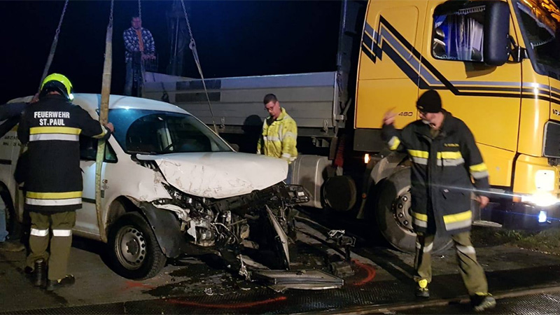 Zugunfall Pkw gegen Zug Lavanttal