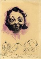 Otto Ungar, Portrait Johanna Frittová, 1942-44, Památník Terezín