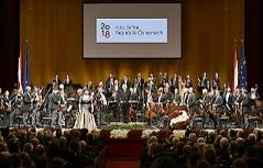 """Orchester im Rahmen des Staatsaktes zu """"100 Jahre Republik Österreich"""" am Montag 12. November 2018 in der Wiener Staatsoper."""