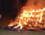 Strohballen brennen St. Martin Brandstiftung