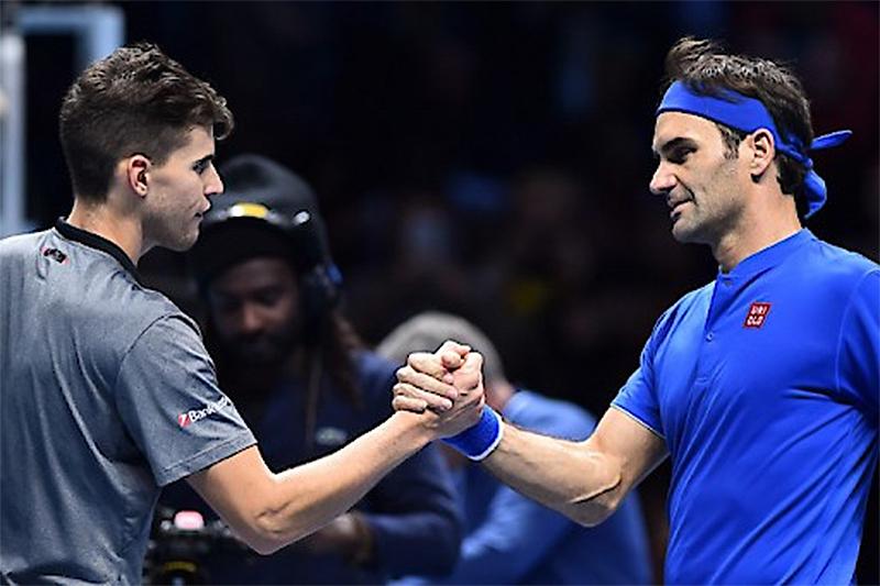 2018 ATP Finals Dominic Thiem Roger Federer