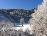 Kälte blauer Himmel Schnee