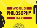 Welttag der Philosophie Schriftzug auf englisch