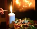 Advent Kerze Weihnachten Kekse