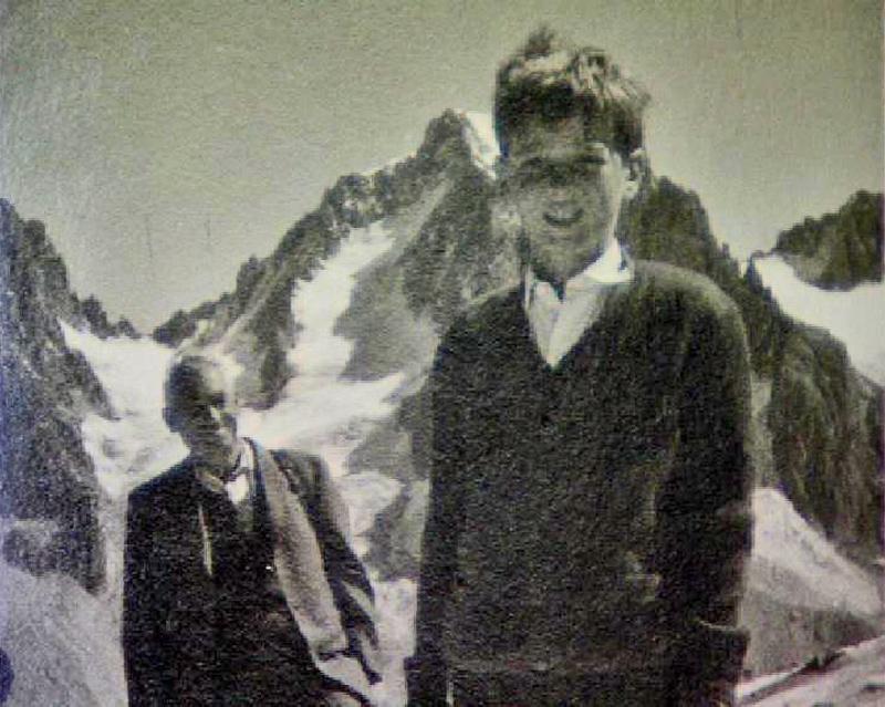 Gunther Heißel mit seinem Vater im Gebirge