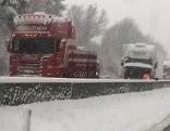 Unfälle Erster Schnee Lkw Südautobahn