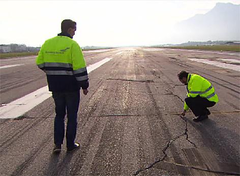 Piste Salzburger Flughafen Airport Landebahn Sanierung Landebahn Startbahn Landepiste