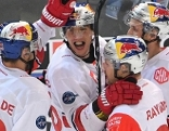 EC Red Bull Salzburg Jubel Champions Hockey League gegen Rouen