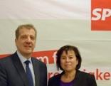SPÖ-Landesparteivorsitzende Birgit Gerstorfer und Klubvorsitzender Christian Makor