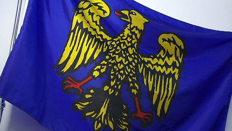 SSC Furlan Minderheitensprache Friuli Fahne