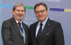 Johannes Hahn und Günther Platter