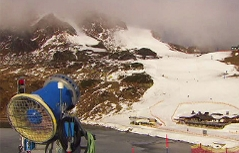 Skisaison auf Kunstschnee gestartet Obertauern