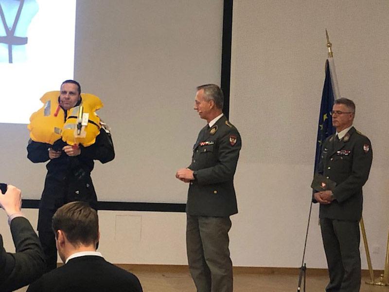 PK Bootsunfall Hainburg Bundesheer Weste