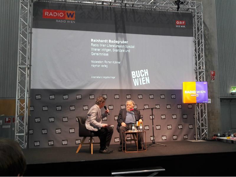 Radio Wien Literatursalon Spezial mit Reinhardt Badegruber auf der Buch Wien 2018.