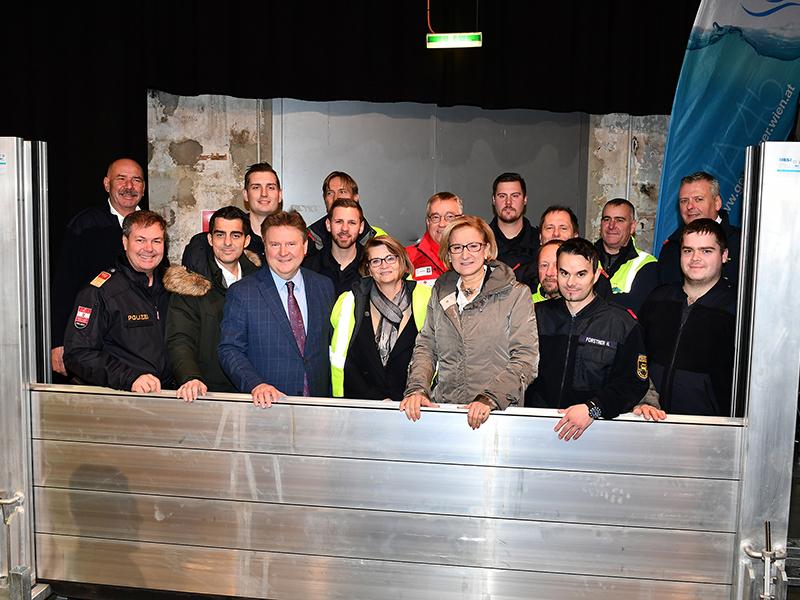 Pressefoto Hochwasserübung Korneuburg