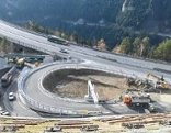 Bauarbeiten Autobahn Patsch Totale