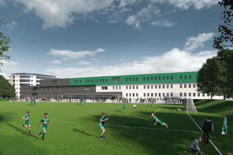 Illustration des neuen SK Rapid Trainingszentrums